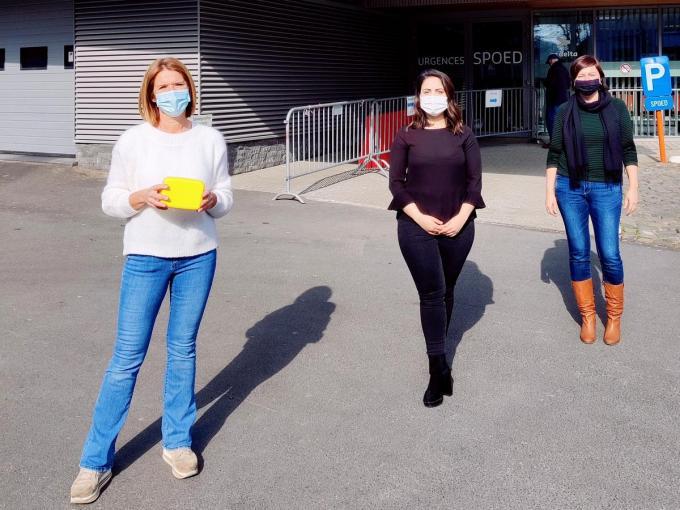 Charlotte Bonte (N-VA Wevelgem), Lianna Mkrtchyan (Fractieleidster (Menen) en Ingvild Ingels (Kamerlid N-VA Menen).©wilfried Ossieur WO
