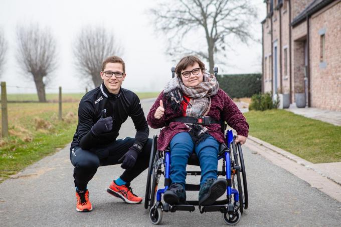 """Jasper Jonckheere en Daphne Ongenae: """"Ik weet hoe belangrijk het is voor mensen met een beperking om zelfstandig te kunnen leven."""" (Foto Davy Coghe)©Davy Coghe Davy Coghe"""