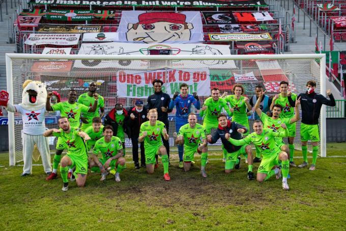 Zulte Waregem was vorige week sinds lang aan het feest in de Leiederby. Maar haalt het ook Play Off 1?©KURT DESPLENTER BELGA