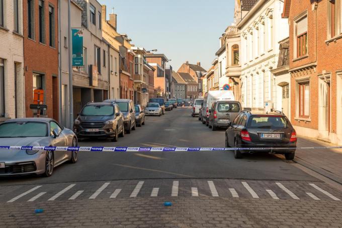 De Felix D'Hoopstraat werd gedeeltelijk afgesloten.©Wouter Meeus WME