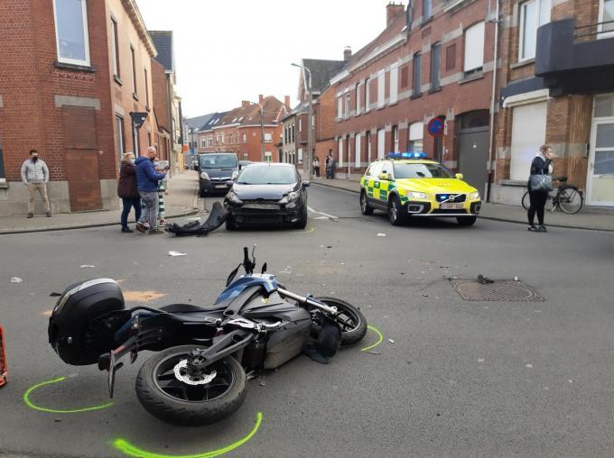 De bestuurder van de wagen kon het slachtoffer niet meer ontwijken.© BF