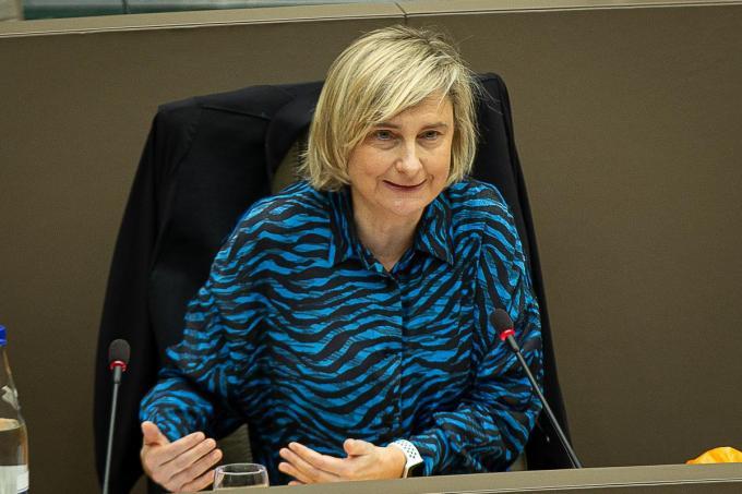 Onder meer door de afwezigheid van Hilde Crevits werd het dossier verschoven naar vandaag.©JAMES ARTHUR GEKIERE BELGA