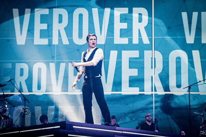 Optreden voor een bomvol Sportpaleis zit er nog niet meteen in, maar misschien kan 'Het Dak Eraf' een goeie aanzet zijn in die richting. (Foto VTM)© Concert Niels Destadsbader Boven de Wolken