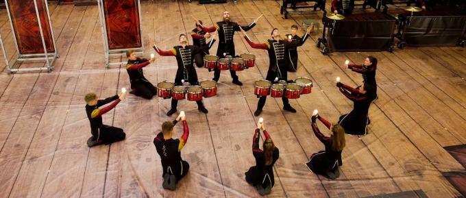 Op 18 oktober vorig jaar kon Drum Spirit op de valreep toch de themashow On Stage brengen voor publiek.© Bert Feys