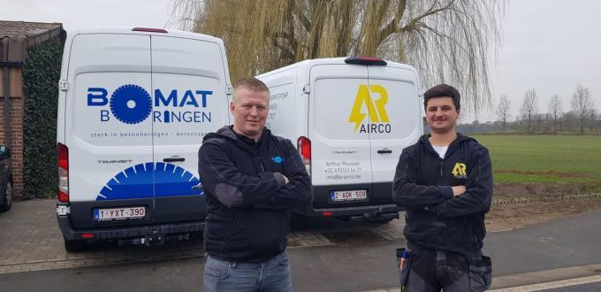 De broers Matthieu (31) en Arthur (23) Roussel staan sinds 1 maart beiden aan het hoofd van hun eigen zaak.© cm