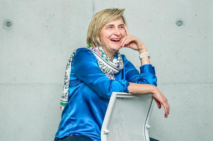 """Hilde Crevits: """"Ik ben doorgaans geen roeper, maar over het dossier van de sneltesten heeft het al gestoven. Mijn kabinet zal dat bevestigen."""" (foto Christophe De Muynck)"""