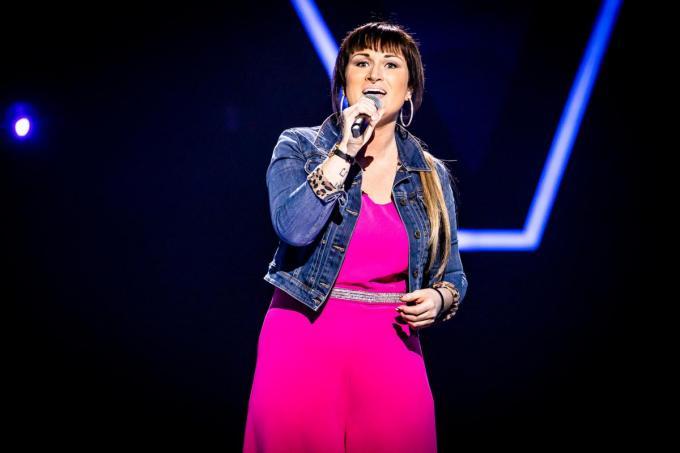 Jennifer nam in het verleden al eens deel aan The Voice van Vlaanderen.© (foto VTM)