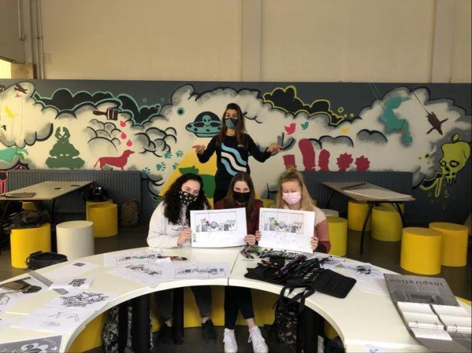 De leerlingen van schilderen & decoratie zien het alvast volop zitten.© (gf)