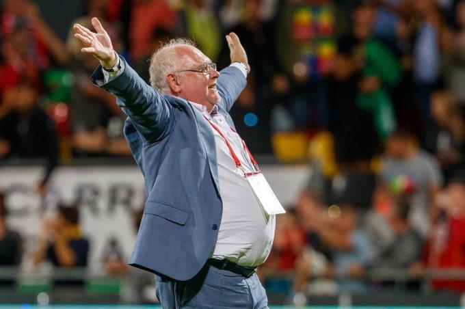 """Frank Dierckens: """"Ik ben vandaag een gelukkiger voorzitter dan vorig jaar op dit tijdstip.""""© BELGA"""