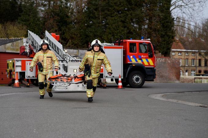 Brandweer Westhoek organiseert onder meer 22 infosessies om mensen warm te maken om vrijwilliger te worden. (Foto TOGH)©Kristien Mertens