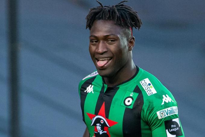 Kevin Denkey scoorde al driemaal voor Cercle Brugge.©KURT DESPLENTER BELGA