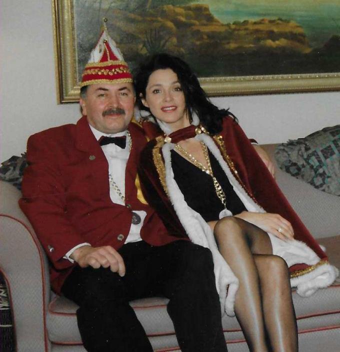 Henri Bolle en Wendy Van Wanten, die in de jaren negentig de showavond op zaterdagavond bijwoonde. (foto FODI)©FODI