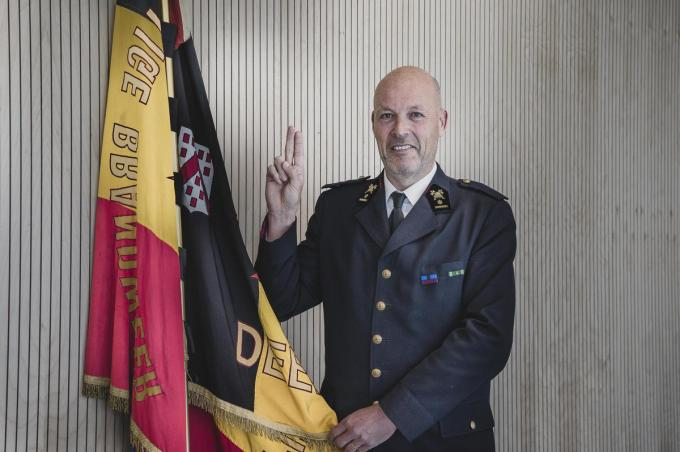 Jan Leenknecht legde vrijdag de eed af als waarnemend zonecommandant van de hulpverleningszone Fluvia.© Olaf Verhaeghe