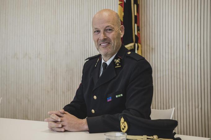 Majoor Jan Leenknecht is de nieuwe waarnemend zonecommandant van hulpverleningszone Fluvia.© Olaf Verhaeghe
