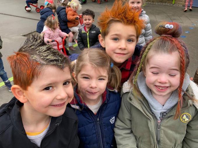 De kinderen genoten van hun gekke week.© LB
