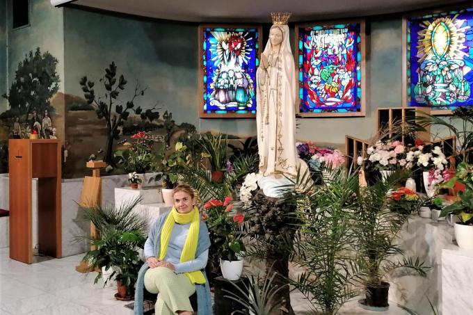 Schepen Cindy Verbrugge in de crypte van de Onze-Lieve-Vrouwekerk©MYRIAM VAN DEN PUTTE