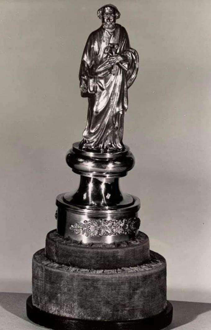 Het verdwenen beeldje van Sint-Petrus.© gf
