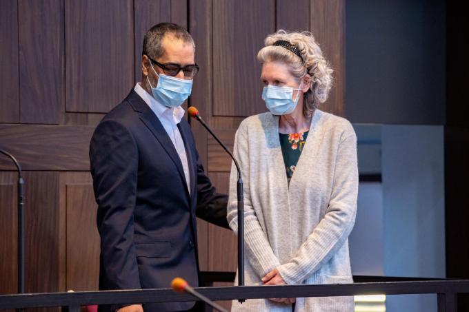 Beschuldigden Jean-Claude Lacote en Hilde Van Acker.© Belga