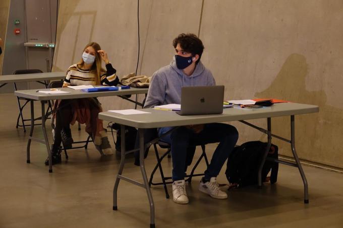 Tijdens de laatste blokperiode werd er al druk gestudeerd in Depart.© AN