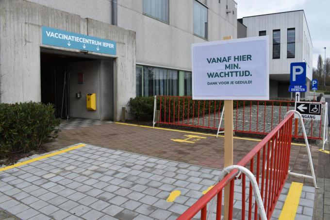 Het vaccinatiecentrum in Ieper. (Foto TOGH)
