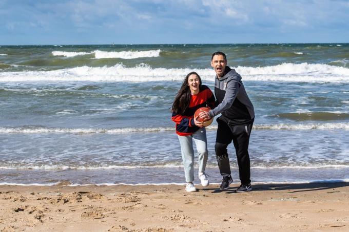 Dario Gjergja met dochter Donato.© Kris Van Exel