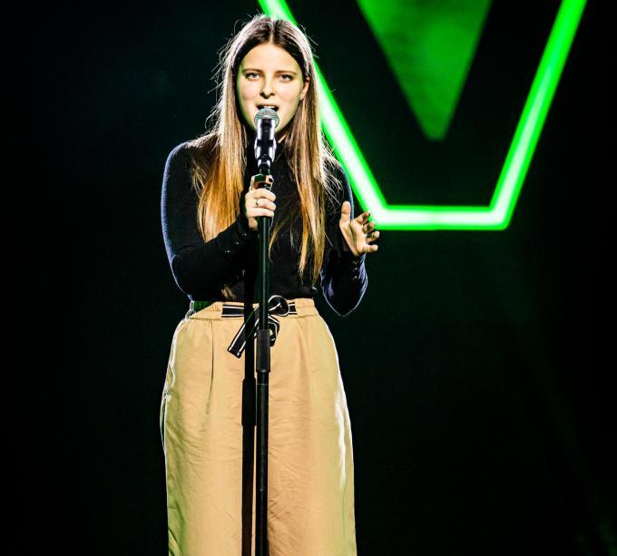 Suzanne Popelier deed al ooit mee aan The Voice Kids. (foto VTM)
