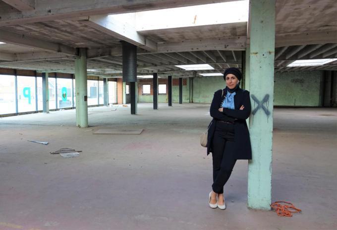 Nadia in de gebedsruimte voor vrouwen. (foto AN)