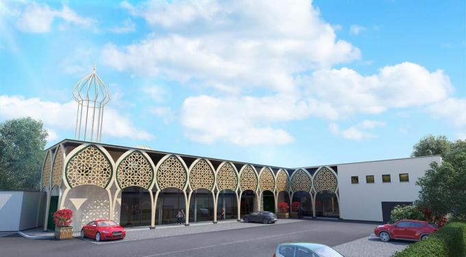 Een projectiebeeld van het religieus en cultureel centrum waar Atakwa straks haar onderkomen wil vinden. (gf)