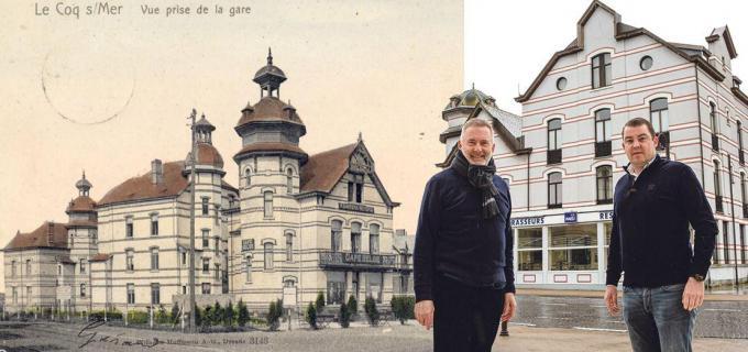 Guido Francque en Thibaud Hermans willen het Hotel des Brasseurs de oorspronkelijke grandeur teruggeven.© Davy Coghe