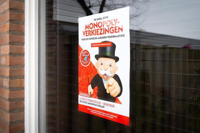Wie gestemd heeft, kan een poster aan zijn raam hangen.© Hasbro