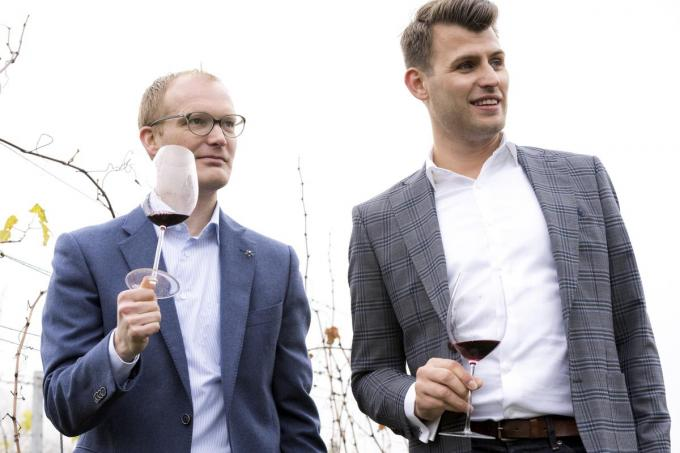 We zien links Benoît Couderé en rechts Dries Corneillie. (foto Ann-Sophie Deldycke)