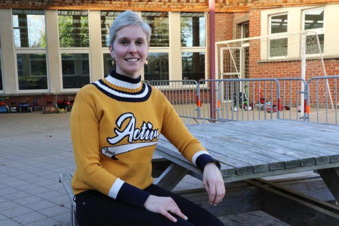 Heidi Ledoux kent de school door en door. (foto EF)©Eric Flamand
