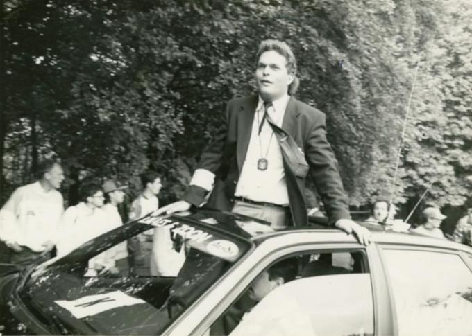 Krist Brulez in zijn beginjaren als BWB-commissaris.