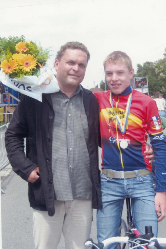 Joren Touquet, het neefje van Krist Brulez, won het PK Aspiranten. De onfortuinlijke jonge renner overleed twee jaar geleden.