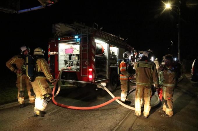 De brandweer was snel ter plaatse.©Eric Flamand EF