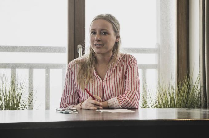 Melissa Depraetere uit Harelbeke is fractieleider in de Kamer voor Vooruit.© Olaf Verhaeghe