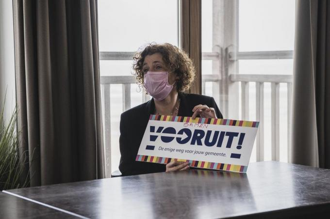 Schepen Marleen De Soete smelt met haar Vooruit samen met het nieuwe Vooruit tot Samen Vooruit.© Olaf Verhaeghe