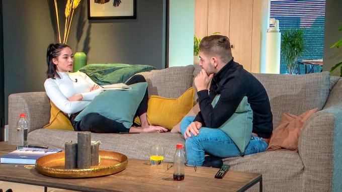 Wibe met haar date Davy.© VTM