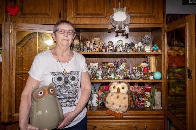 Rita Vangehluwe heeft uilen in alle formaten, uit tal van windstreken.© LC