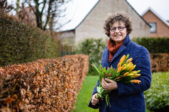 "Karin Robert van Male Solidair: ""Vorig jaar was ik net te laat.""© Davy Coghe"