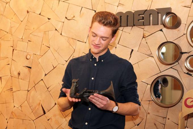 In december 2020 won Jérémie de Loftrompet in de categorie 'Doorbraak' bij MENT TV en daar is hij nog altijd heel blij mee.© PADI/Daniël