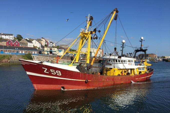 Minister Crevits dringt aan om snel tot een definitief akkoord over de vangstquota te komen met het Verenigd Koninkrijk.©Peter MAENHOUDT