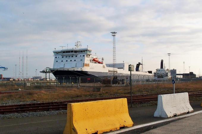 Door corona aan boord ligt roroschip Norsky tot minstens zondag 28 maart vast Zeebrugge.© Roel Jacobus