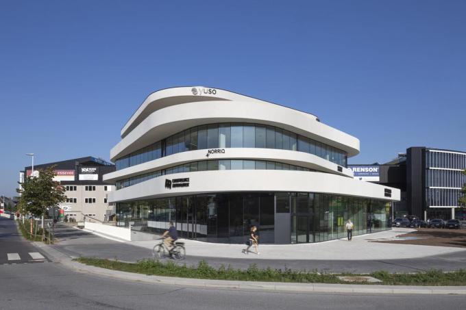 Consultancy- en technologiebedrijf Norriq opent een nieuw kantoor in het Waterfront-gebouw in Waregem.© Pieterjan Neirynck