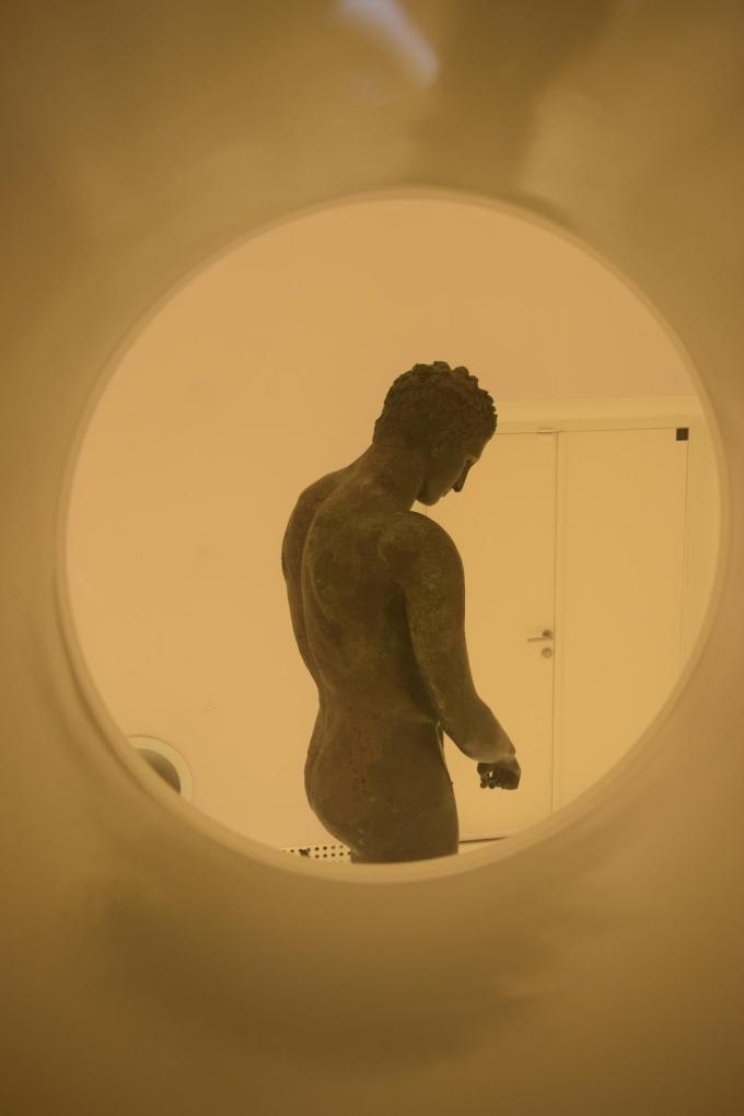 Een museum voor één standbeeld. Dat vind je in Mali Lošinj.© Peter Soete