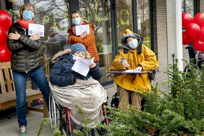 De bewoners lieten enthousiast van zich horen.©JOKE COUVREUR (foto JCR)