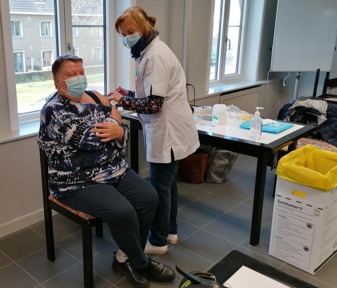 In Veurne wordt volop gevaccineerd.©MYRIAM VAN DEN PUTTE Myriam Van den Putte