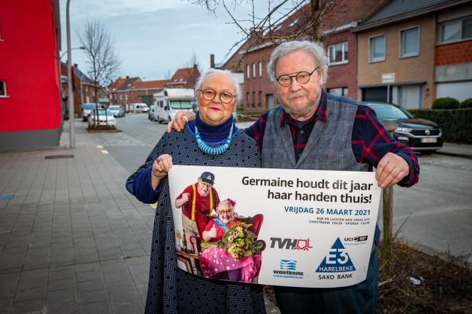 """Paulette Van Neste en Laurent Geers: """"Veel mensen denken ook écht dat ik Germaine heet, maar dat spelletje speel ik dan wel graag mee.""""©Kurt Desplenter Foto Kurt"""