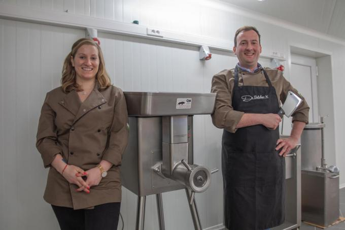 "Lisa Van Parys en Gert-Jan Declercq: ""Als je 10 kilo biefstuk wil, kan dat.""©Wouter Meeus foto WME"