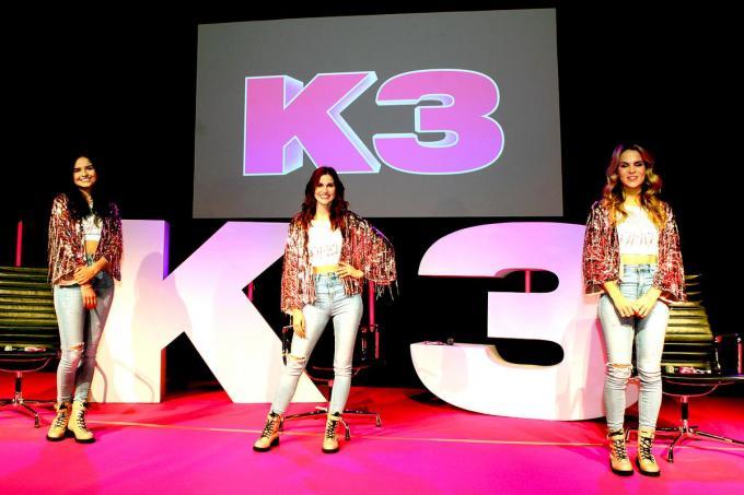 Marthe, Hanne en Klaasje alias K3.© PADI/Daniël